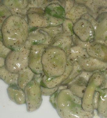 Ricetta verdure: fave fresche in crema verde