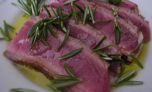 Ricetta secondo carne: tagliata al rosmarino